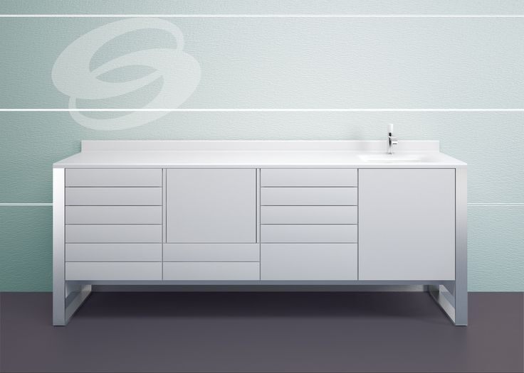 Saratoga's dental cabinetry line offers a wide range of customization possibilities: suspended, raised, or full floor models. The Sign line is designed to ensure top-notch hygiene. #DentalCabinets