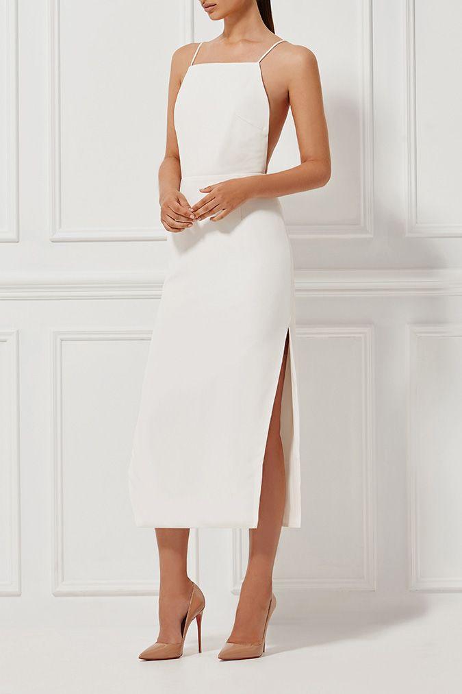 ALESSANDRA SILK DRESS MILK - Dresses - Shop