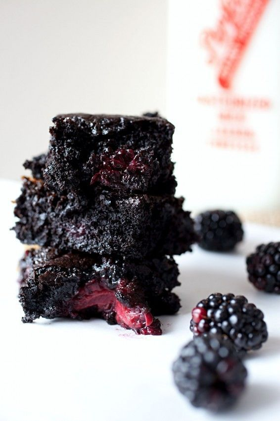 Caramel Blackberry Brownies