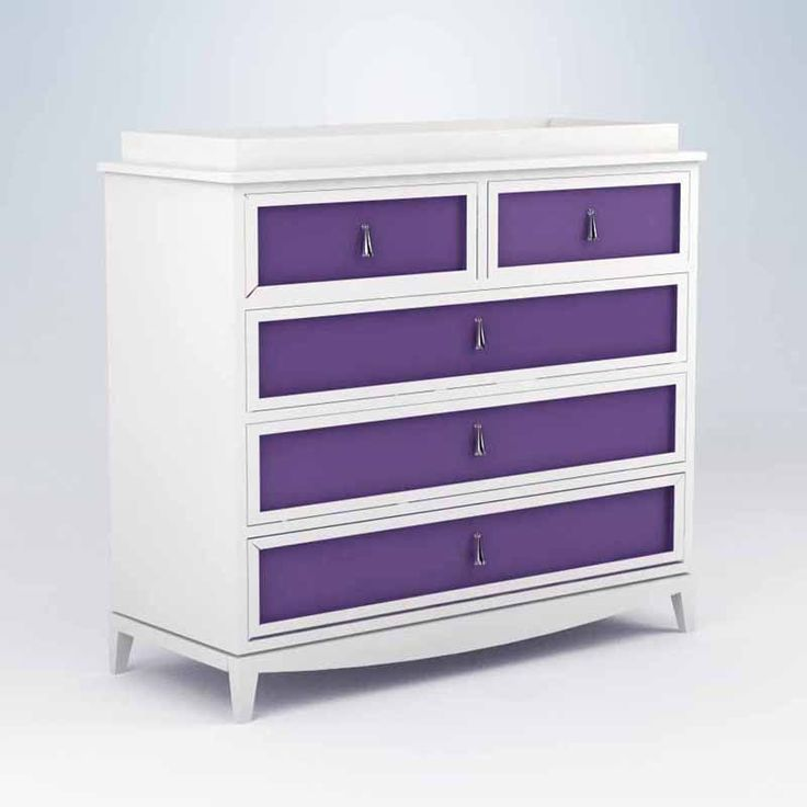 love this purple dresser... Can easily do this to Ella's furniture