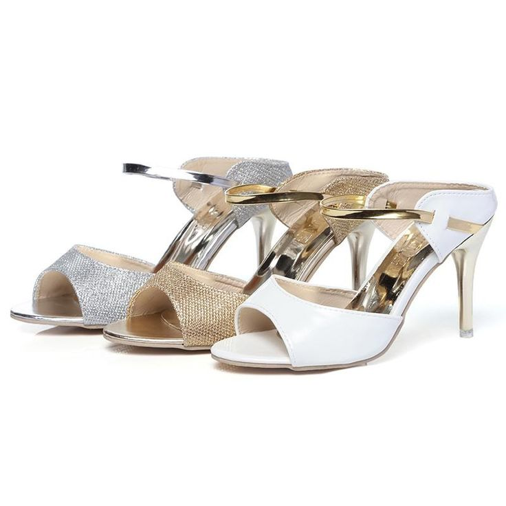 Women Sandals High Heels Thin Heel Gold Sliver Ankle-Wrap – Ozzy Bella All Great Apparel