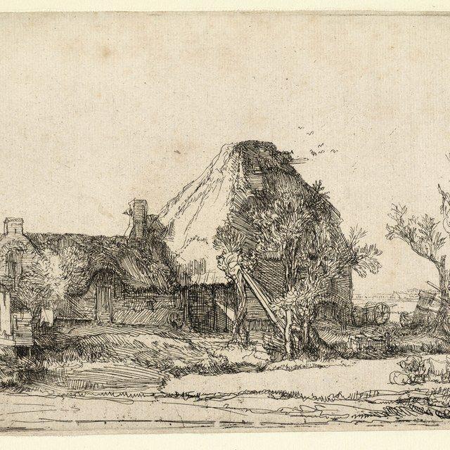 Rembrandt, Landschap met zittende tekenaar ( B 219 ), 1645. Teylers Museum