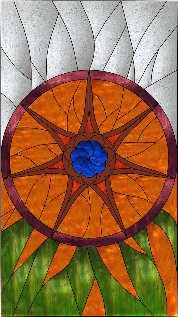 """Game of Thrones Stained Glass Pattern. 12"""" x 21"""""""