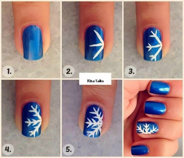 70 best christmas nail art images on pinterest christmas nails easy snowflake nails for christmas prinsesfo Choice Image