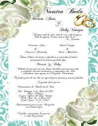 Resultado de imagen para tarjetas de invitacion de bodas, contenido