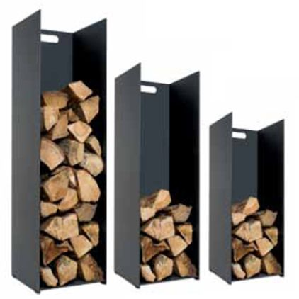 Stovax Contemporary Black Log Stores