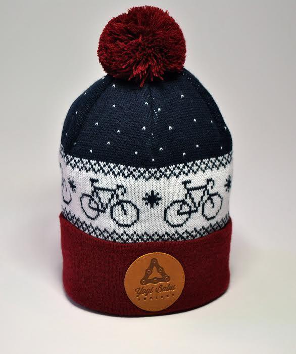 Czapka zimowa PomPom Bike Bordowa