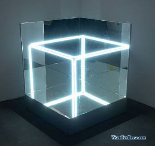 Jeppe Hein S Neon Mirror Cube L I G H T I N G