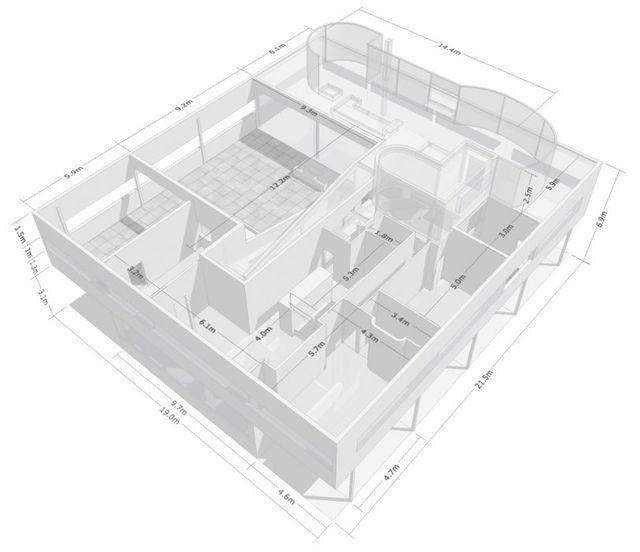Top Villa-savoye-dimensions … | Pinteres… YO43