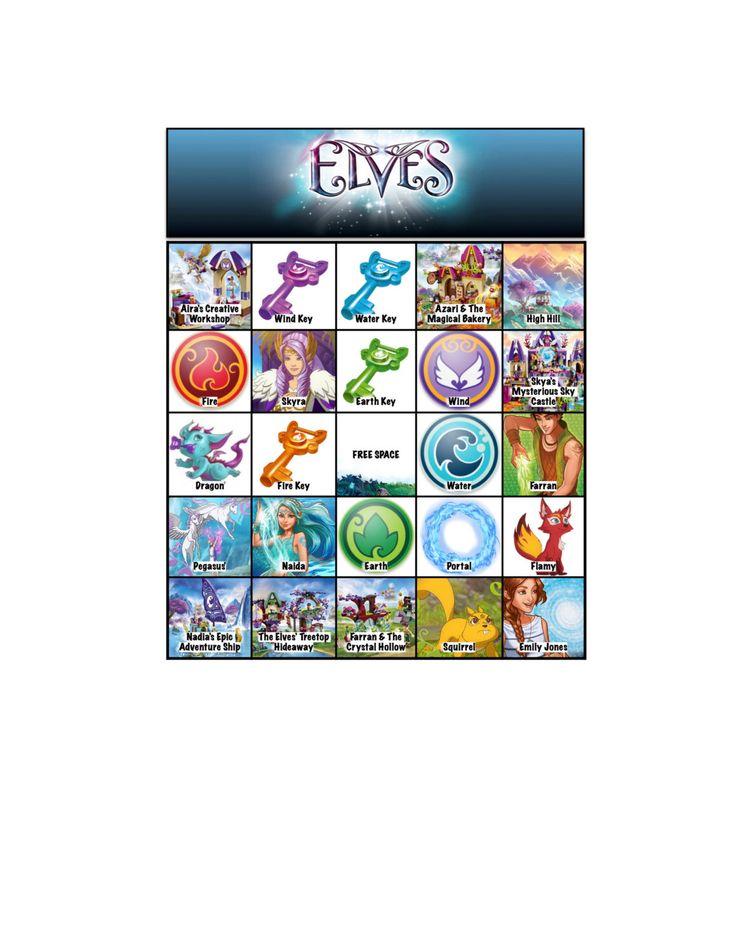 Lego Elves Bingo Cards Game  https://www.etsy.com/listing/250565723/lego-elves-bingo-cards-10-cards