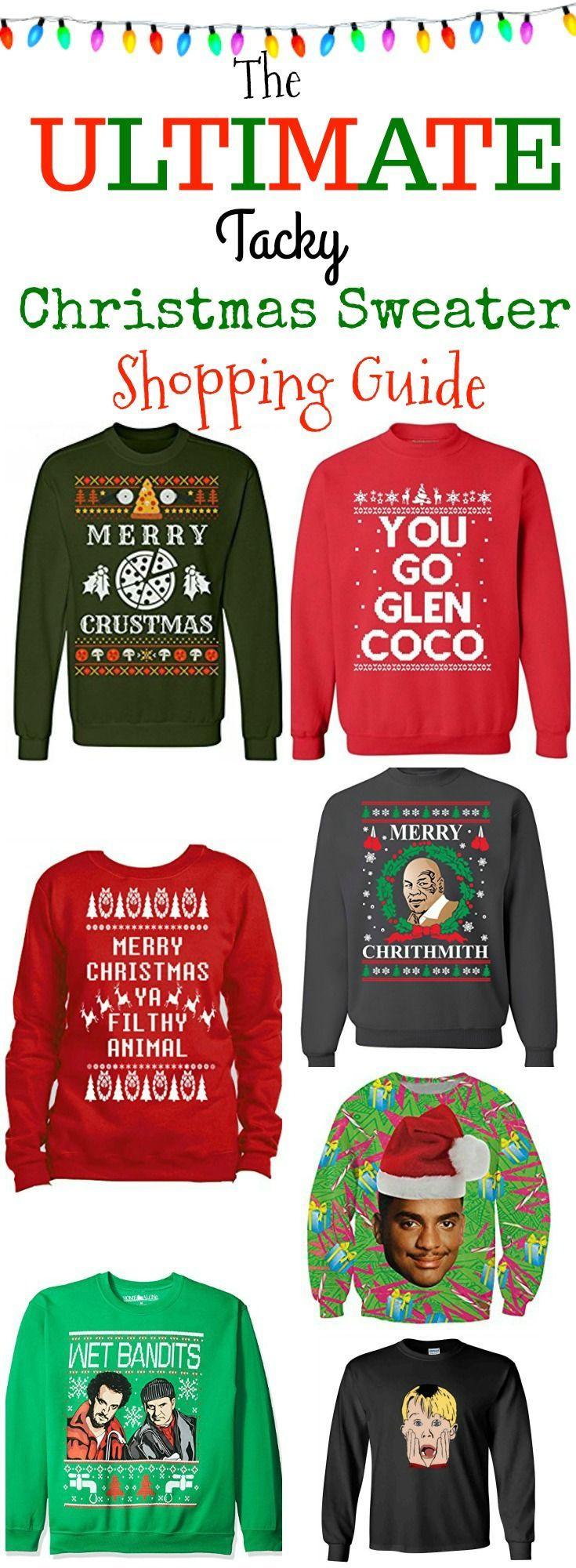 The Ultimate Tacky Christmas Sweater Shopping Guide: Where to buy the best ugly Christmas Sweaters at the best prices! #Christmas