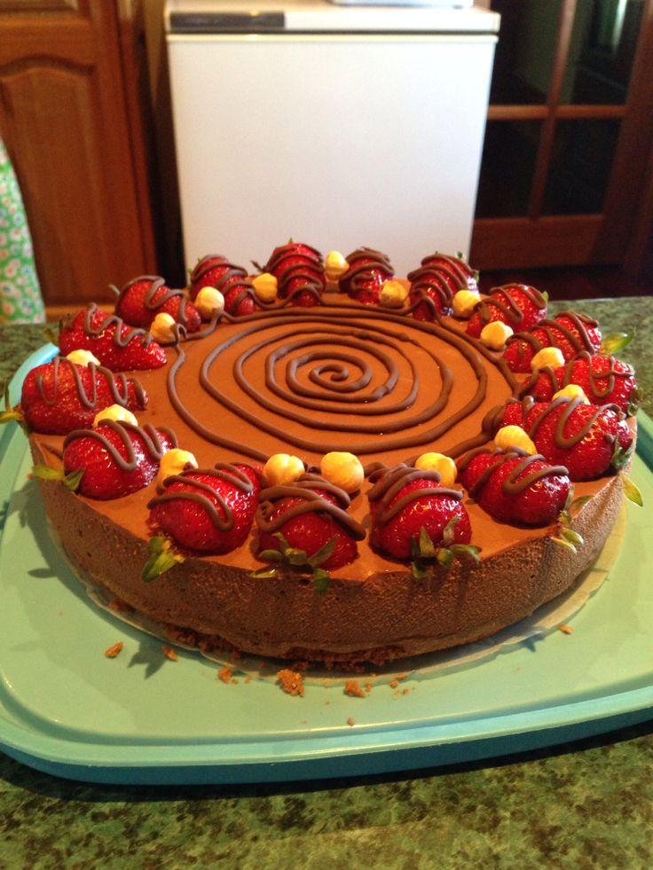 Choc hazelnut cheesecake