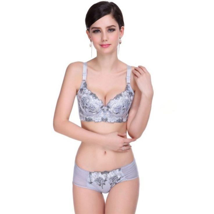 5.24$  Buy here - Women Lace Lingerie Bra Set Push Up Triumph Bra Sets Brand Cute lingerie Bra Brief Sets   #buymethat