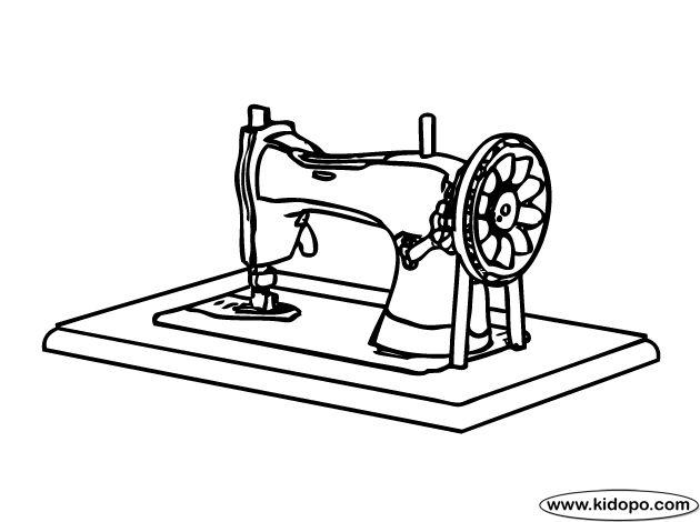 швейная машина картинки раскраски день встретили утро