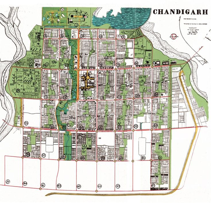 Le Corbusier's Chandigarh plan - makes use of the Superblock idea