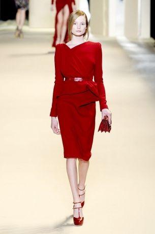 elegant red ensemble from Elie Saab