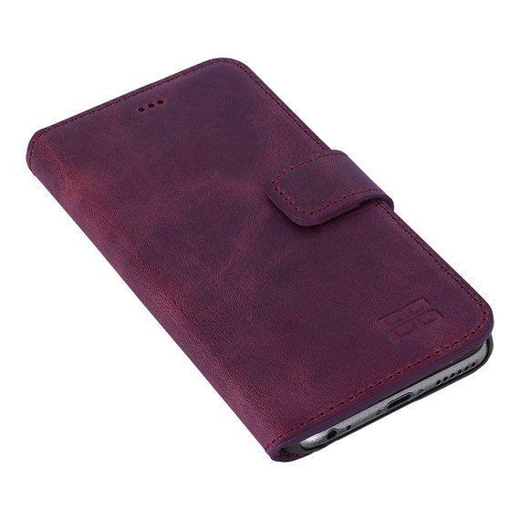 Galaxy S7 Leather Wallet Case, Samsung Galaxy S7 Edge Leather Case, S7 Best Leather Wallet Case Perfectfor 3+ Cards & Cash, AnticPurple