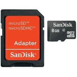 SanDisk Micro SD Karte 8 GB 8 GB microSDHC-kaart Class 4 incl. SD-adapter  Klik verder voor meer info.  EUR 8.99  Meer informatie