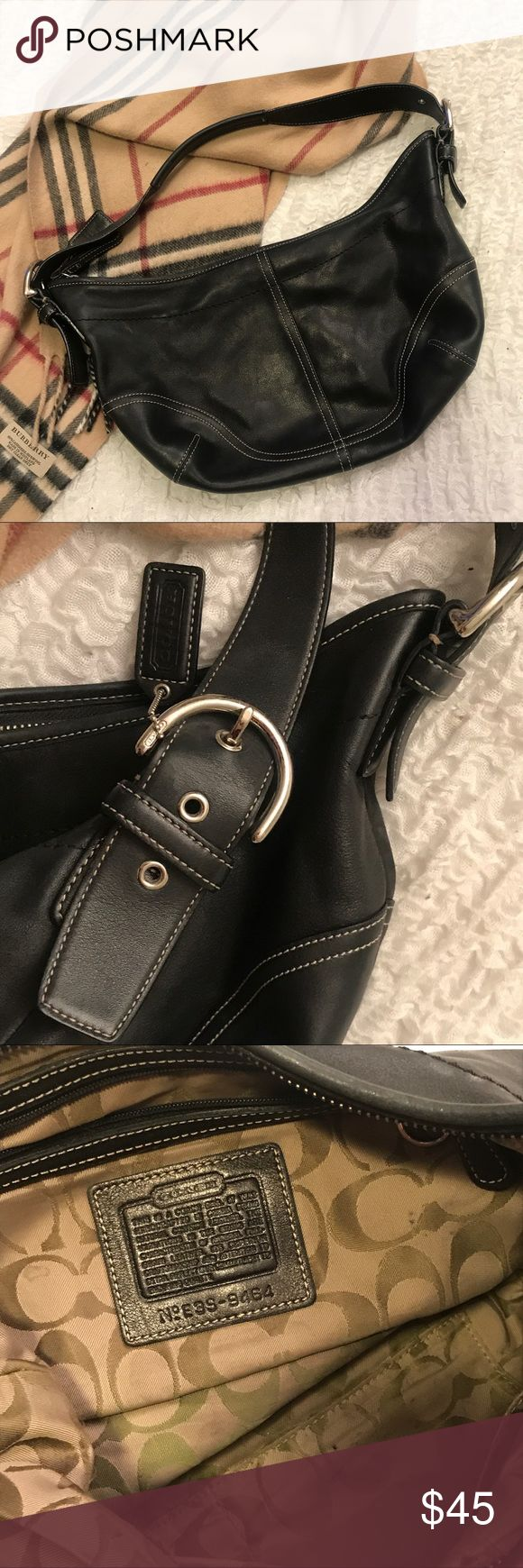 Authentic Coach Hobo Bag Authentic COACH hobo bag in black leather Coach Bags Hobos