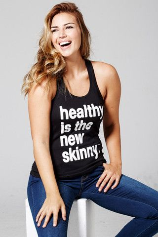 *Black HNS Tank – Healthy is the new Skinny -- LOVE the positive body image message the company sends out