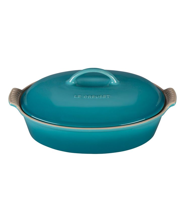 Love this Caribbean Heritage 4-Qt. Covered Oval Casserole Dish by Le Creuset on #zulily! #zulilyfinds