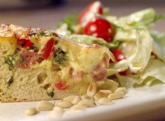 Kake med ost og skinke   Fru Timian
