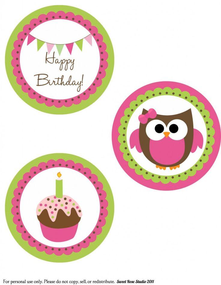 Owl Birthday Large Circles-General-1