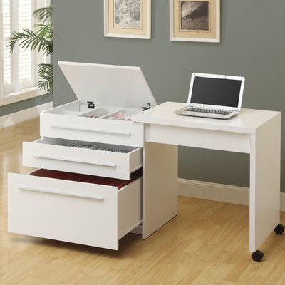 Monarch Specialties Inc. Computer Desk with Medium Storage Drawers