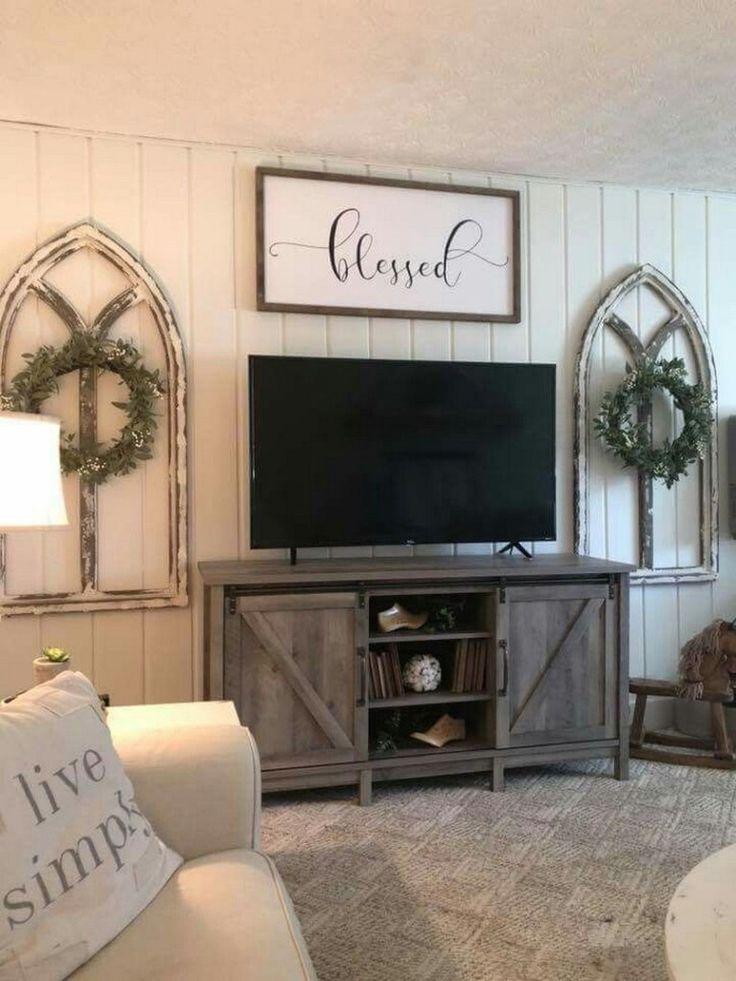 Farmhouse Living Room Wall Decor Ideas