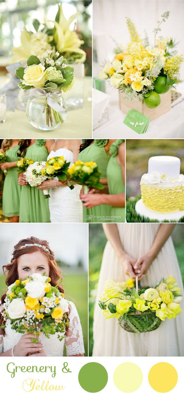 natural green and bright yellow rustic wedding color ideas