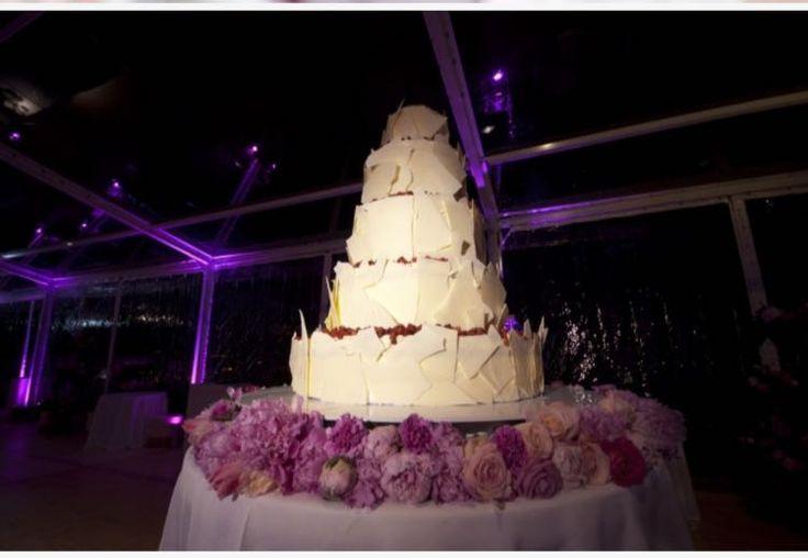 violet roses cake