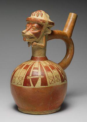 Moche Decorated Ceramic, Peru, The Metropolitan Museum of Art