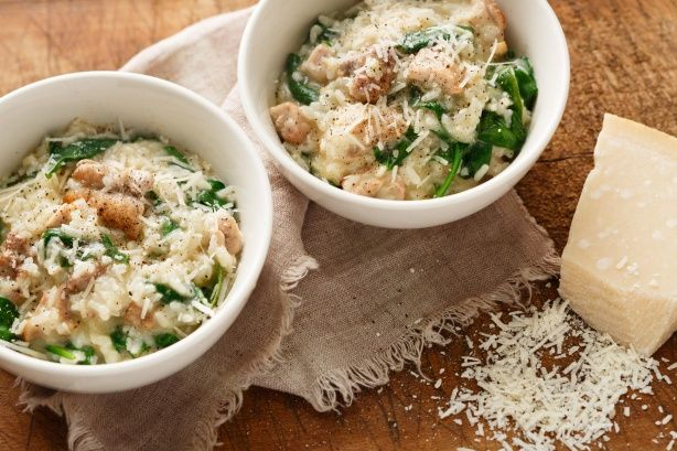 Use your pressure cooker to create a tasty risotto. It's the easiest, quickest way and the results are delicious.