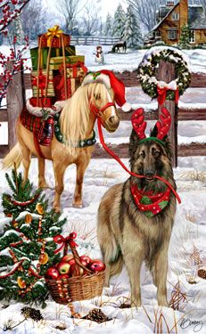 """New for 2012! Belgian Tervuren Christmas Holiday Cards are 8 1/2"""" x 5 1/2"""" and come in packages of 12 cards. One design per package. All designs include envelopes, your personal message, and choice of greeting. Select the inside greeting of your choice from the menu below.Add your custom personal message to the Comments box during checkout."""