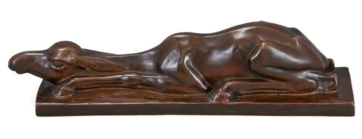 "** Jussi Mäntynen (Finnish 1886-1978), ""Elk Calf"" Sculpture, Patinated Bronze."