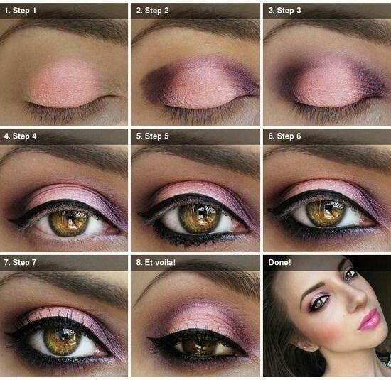 Machiaj de ochi-roz