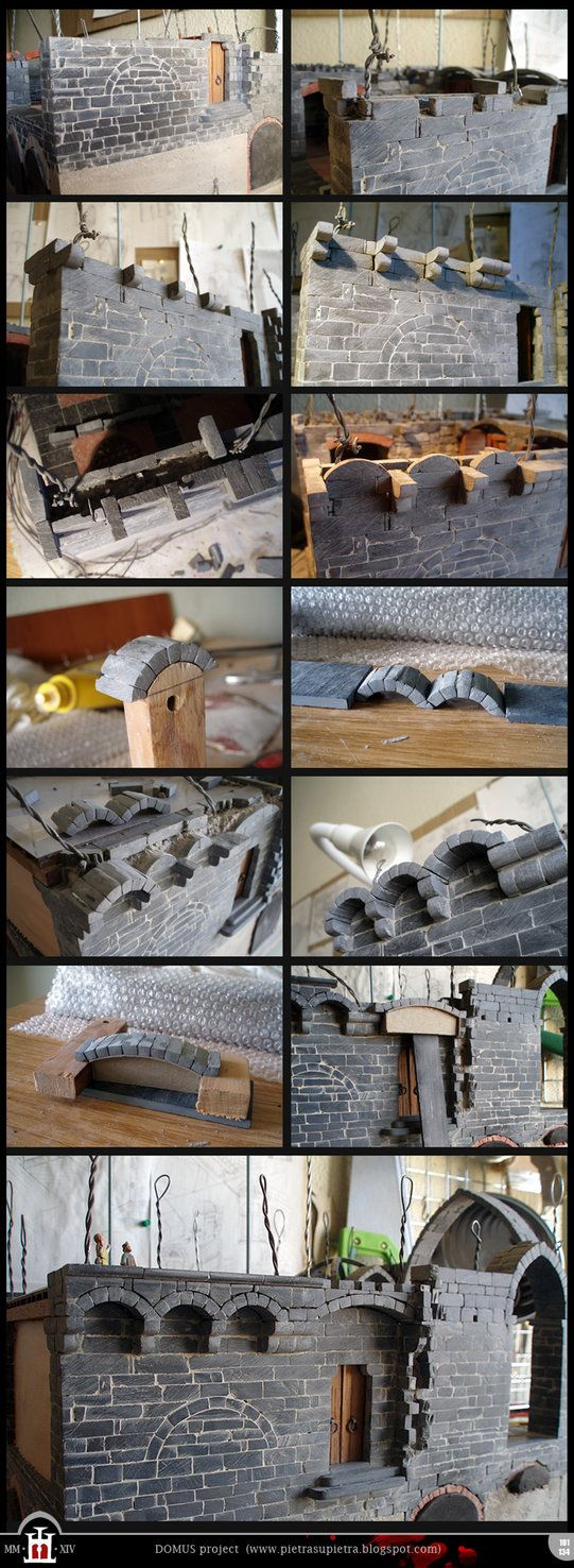 Domus project 101-134: Stone corbels and arches by Wernerio on DeviantArt