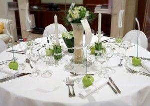 137 best apple themed wedding images on pinterest apples table apple green wedding table centerpieceswedding junglespirit Image collections