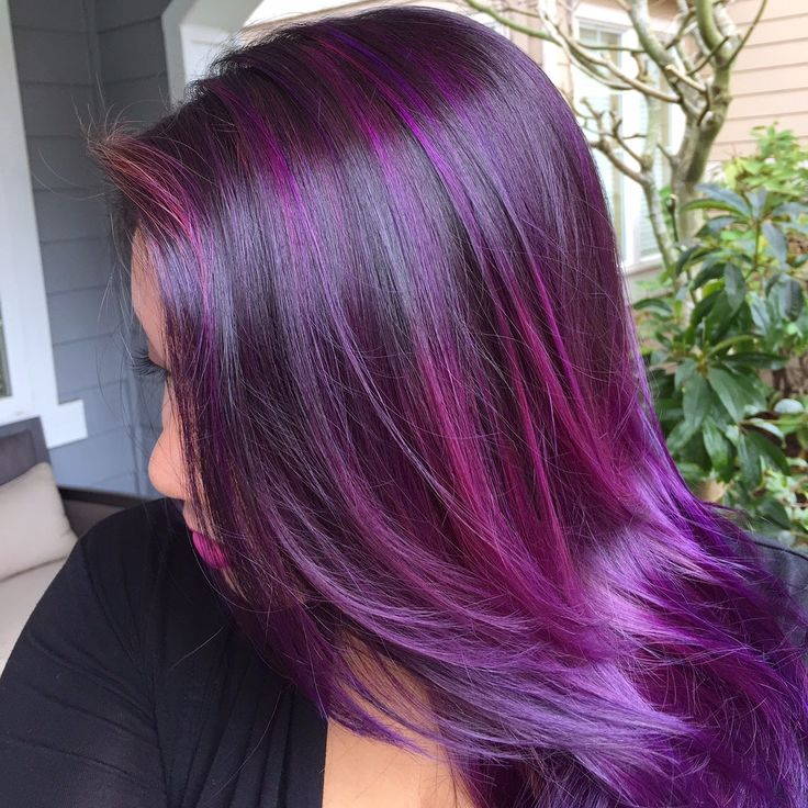 Haare lila ombre