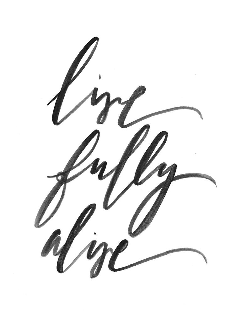 Live Fully Alive Print - Inspirational Quote - Living Room Decor - Travel Wall Art - Inspirational Sign - Calligraphy Art Print