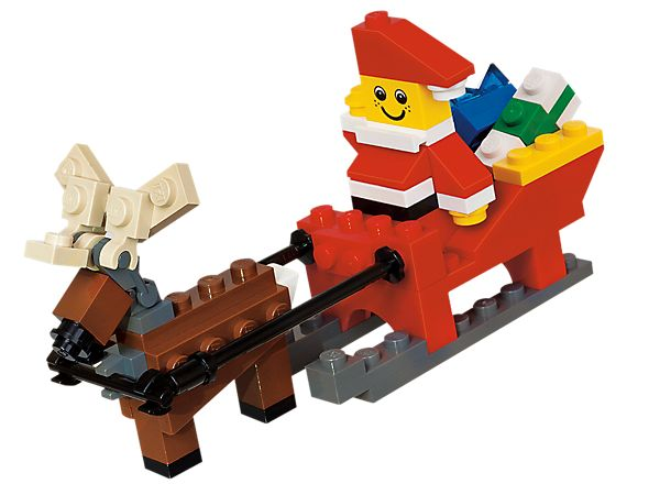 With a little old driver, so lively and quick, I knew in a moment it must be St. Nick. --What a fun way to pass the time while waiting for St. Nick to arrive. LEGO® Santa Claus is coming to town!