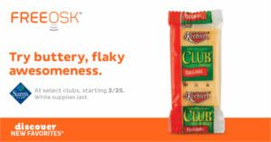 FREE Keebler Club Crackers Samples at Sam's Club on http://www.icravefreebies.com/