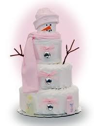 Winter Diaper Cake