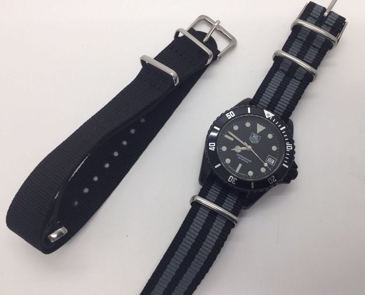 Vintage TAG HEUER Professional Quartz 980.026 Black PVD Submariner Diver Watch  | eBay