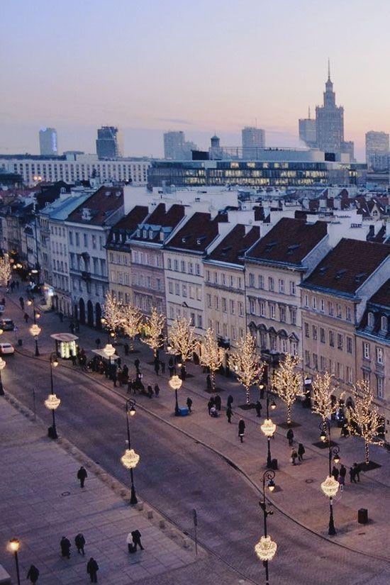 A heavy xmas feel in Poland's capital city of Warsaw.