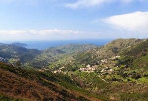 Le golfe de Lava et la plage vu depuis le mont gozzi à Appietto