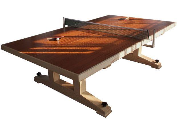 Beautifully made ping pong table.