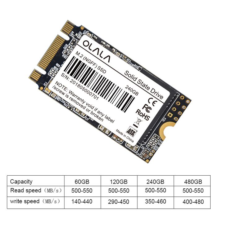 SALE 2018 OLALA M.2 SSD 120GB 240GB 480GB Internal Solid
