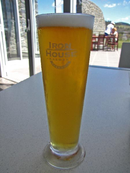 Iron House Brewery, just north of Bicheno on the east coast of Tasmania. Not a bad drop!