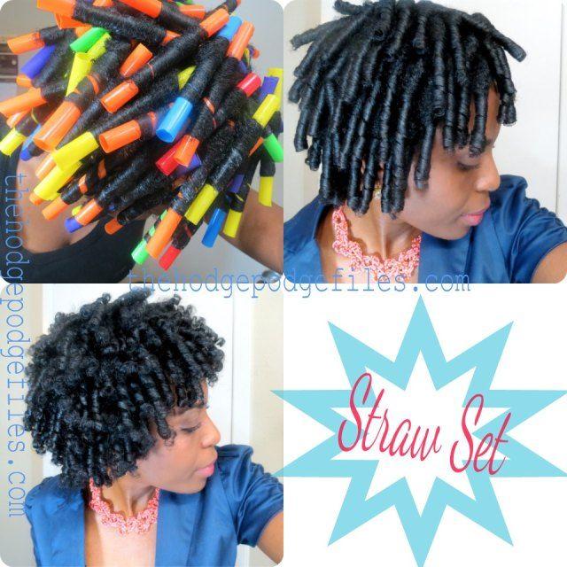 Natural Hairstyles Using Straws